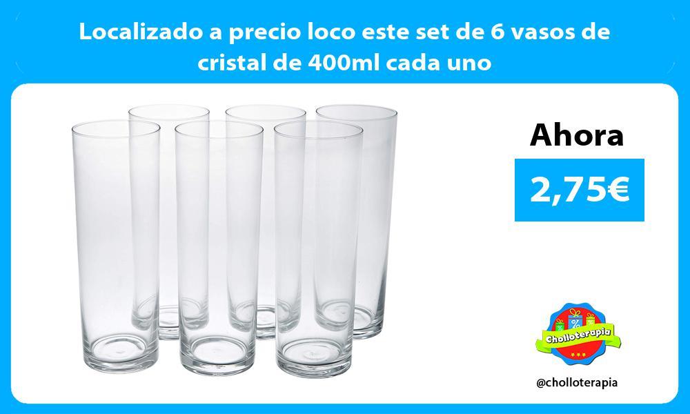 Localizado a precio loco este set de 6 vasos de cristal de 400ml cada uno