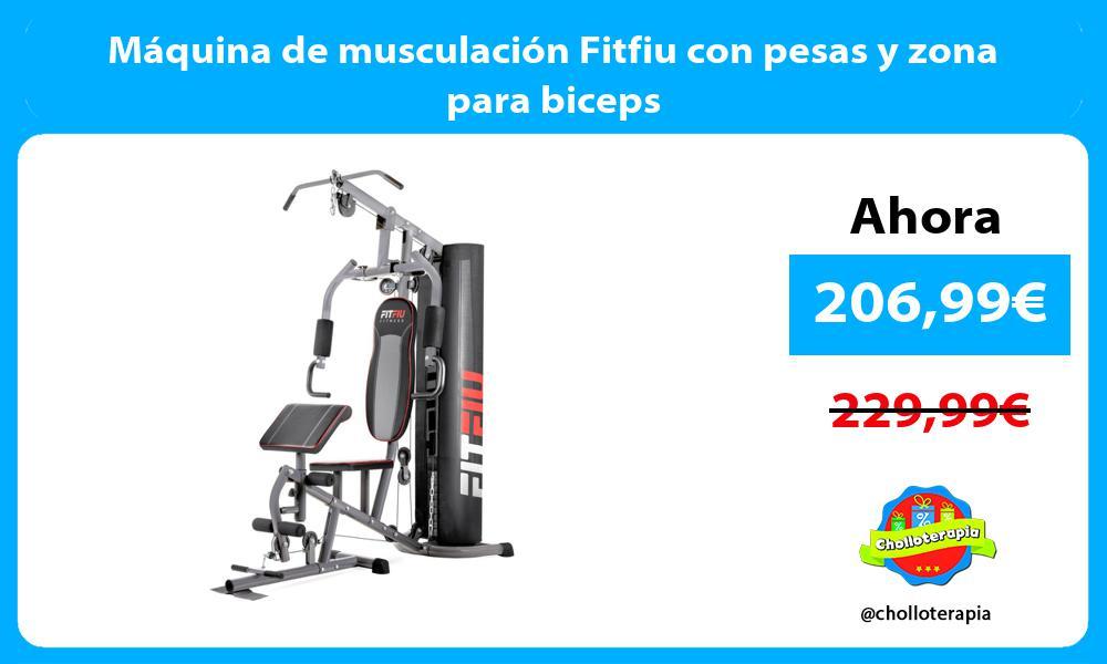 Máquina de musculación Fitfiu con pesas y zona para biceps