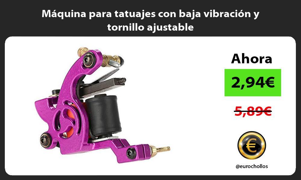Máquina para tatuajes con baja vibración y tornillo ajustable