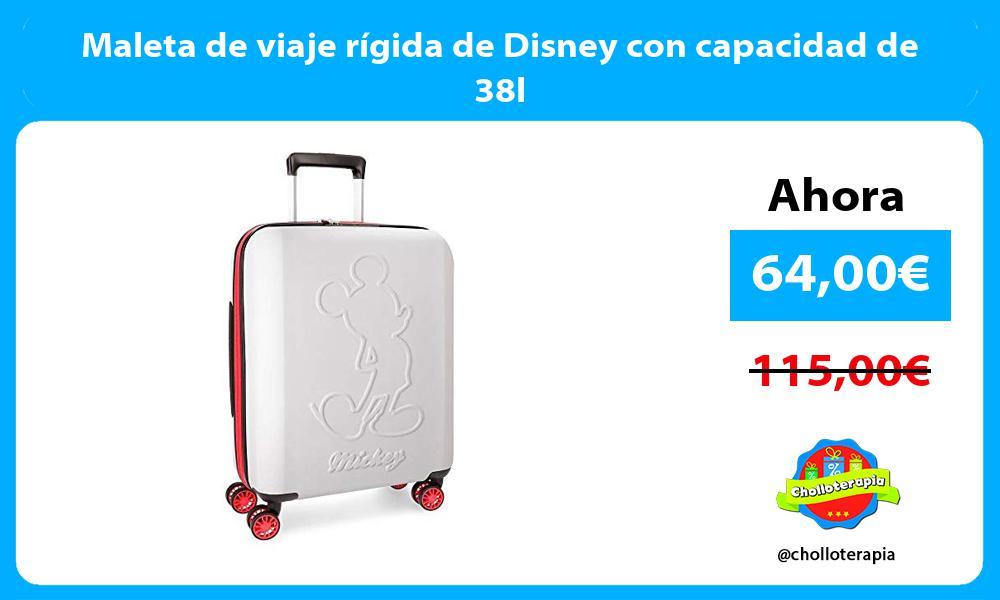 Maleta de viaje rígida de Disney con capacidad de 38l