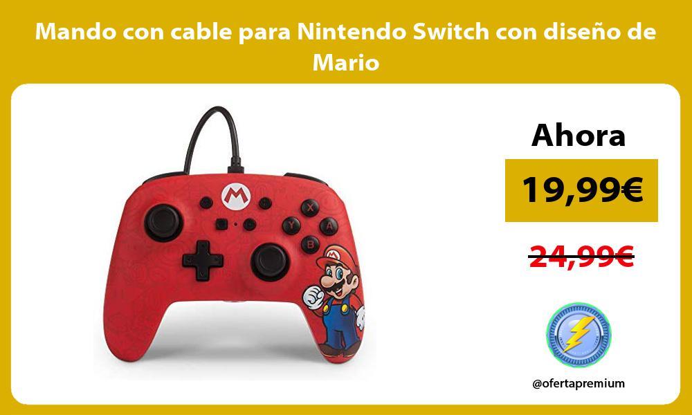 Mando con cable para Nintendo Switch con diseño de Mario