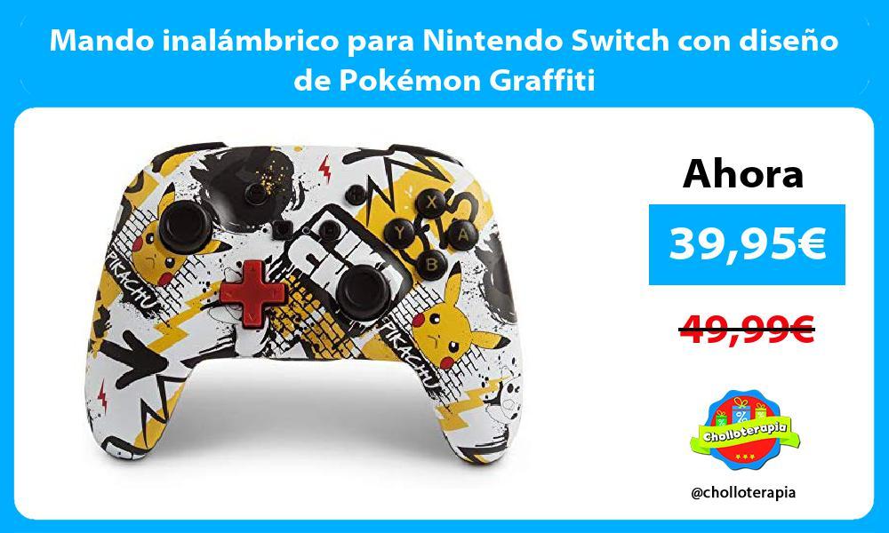 Mando inalámbrico para Nintendo Switch con diseño de Pokémon Graffiti