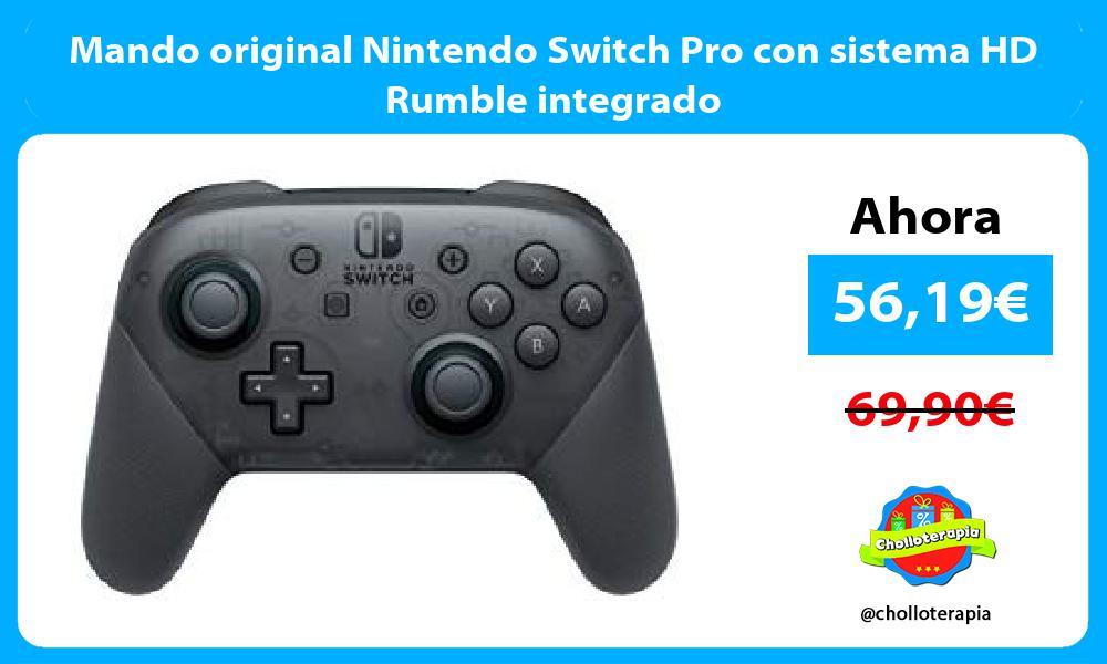 Mando original Nintendo Switch Pro con sistema HD Rumble integrado