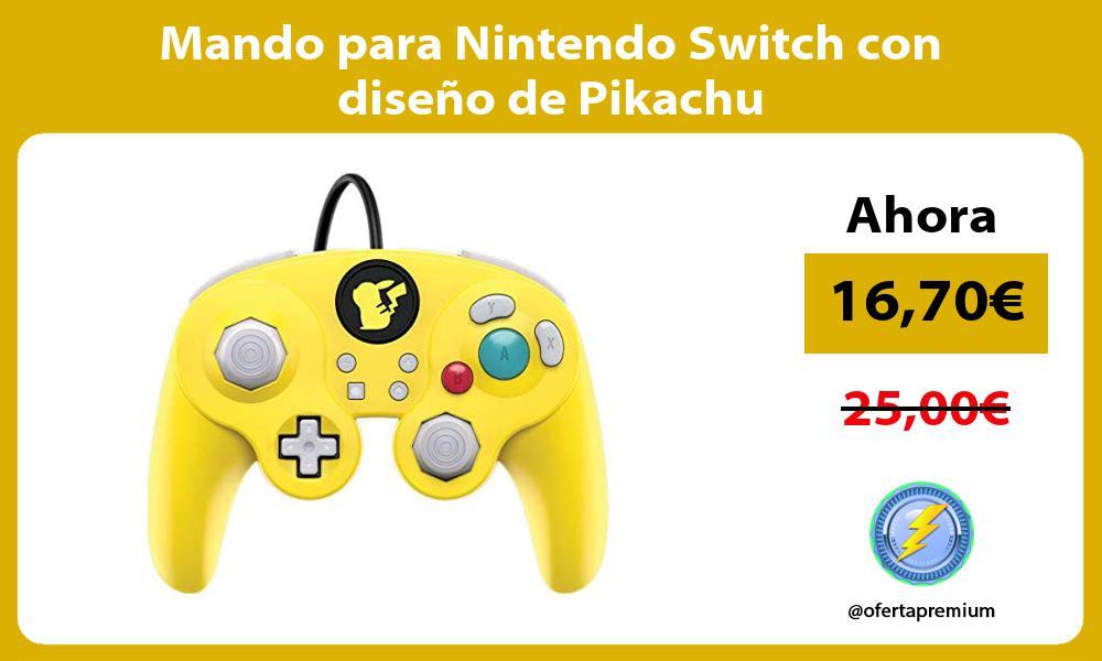 Mando para Nintendo Switch con diseño de Pikachu