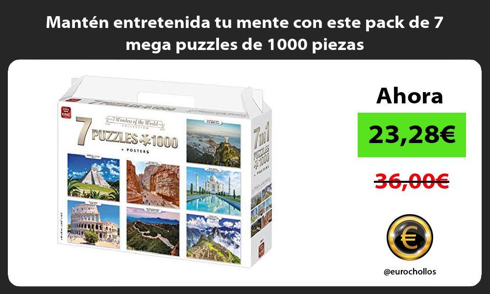Mantén entretenida tu mente con este pack de 7 mega puzzles de 1000 piezas