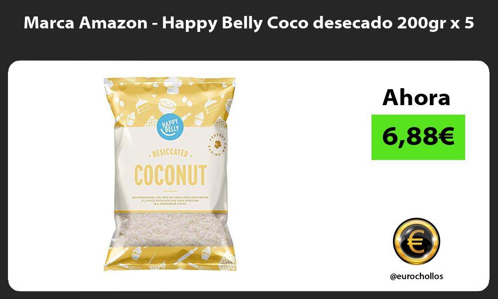 Marca Amazon Happy Belly Coco desecado 200gr x 5