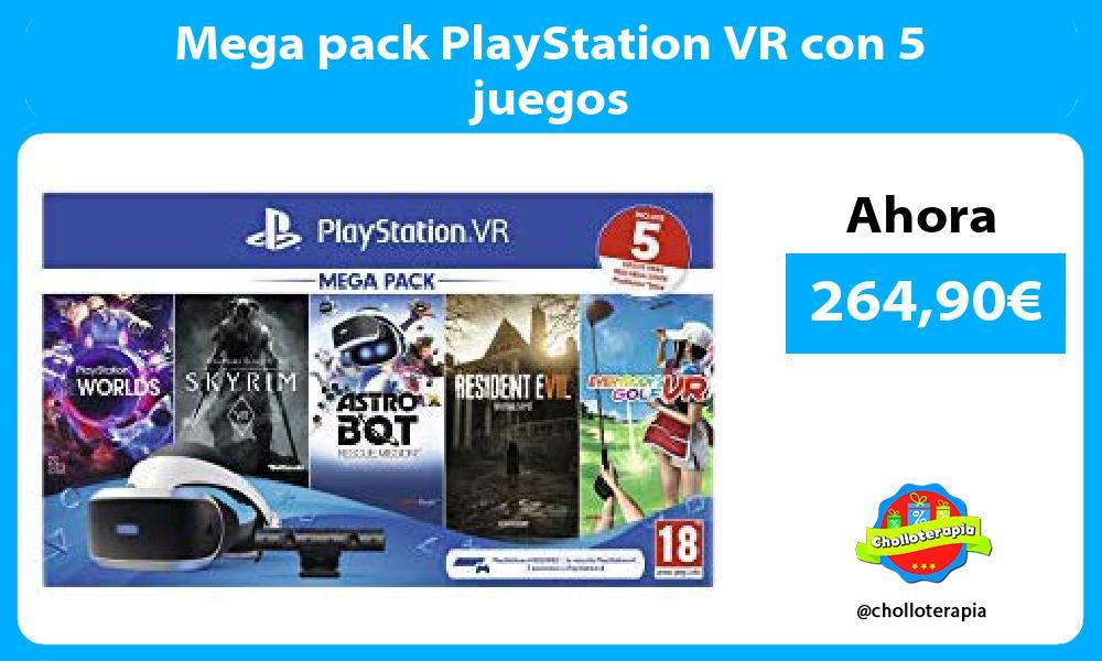 Mega pack PlayStation VR con 5 juegos