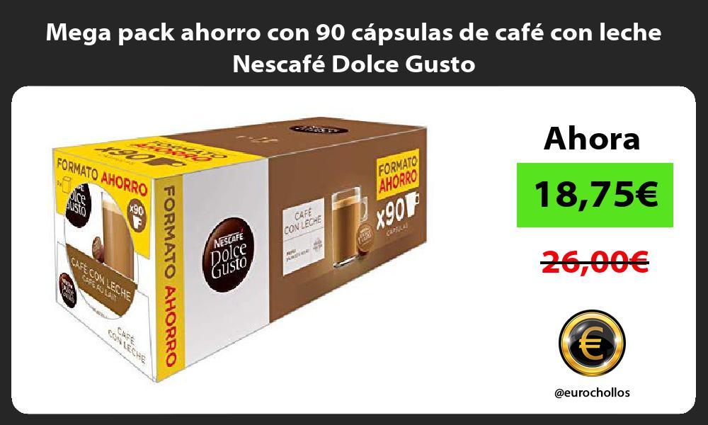 Mega pack ahorro con 90 cápsulas de café con leche Nescafé Dolce Gusto