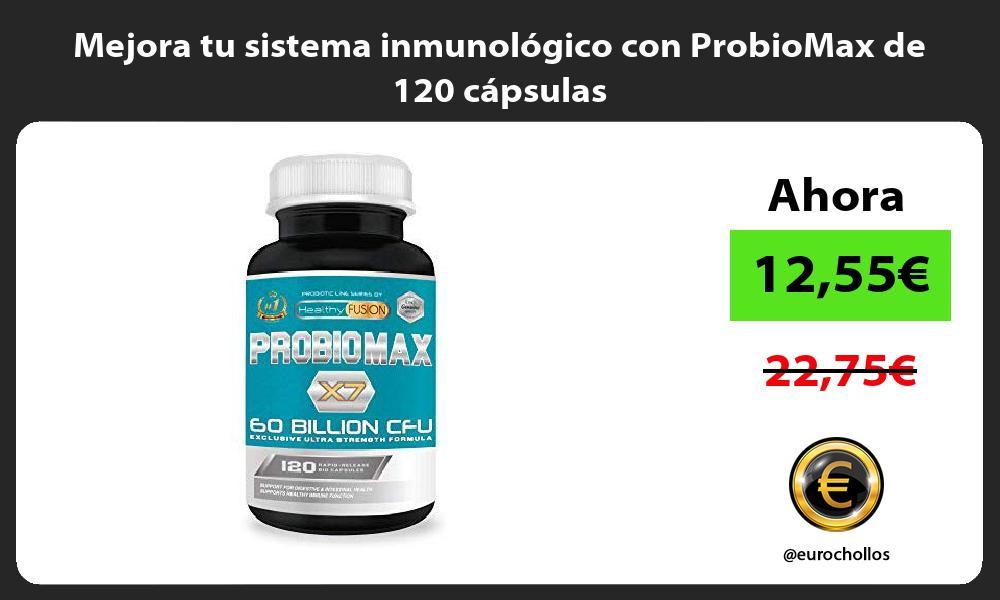 Mejora tu sistema inmunológico con ProbioMax de 120 cápsulas