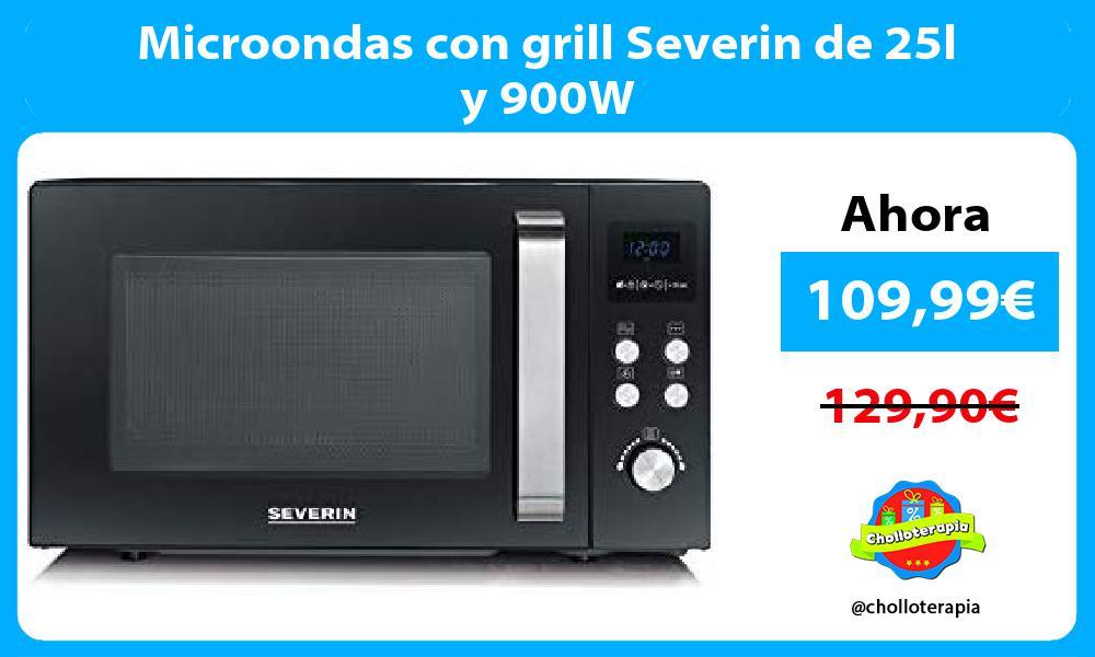 Microondas con grill Severin de 25l y 900W