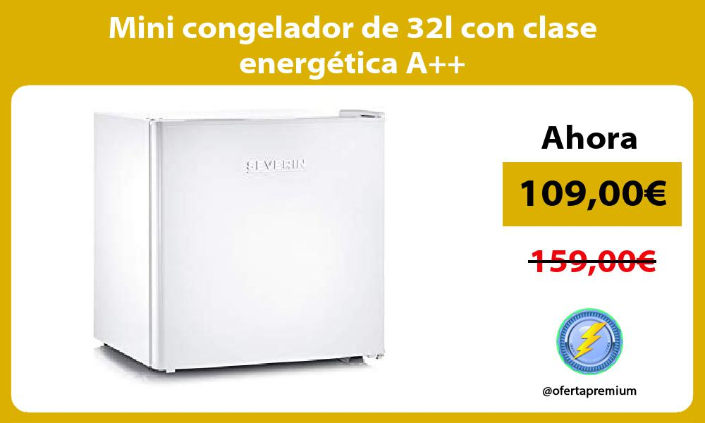 Mini congelador de 32l con clase energética A