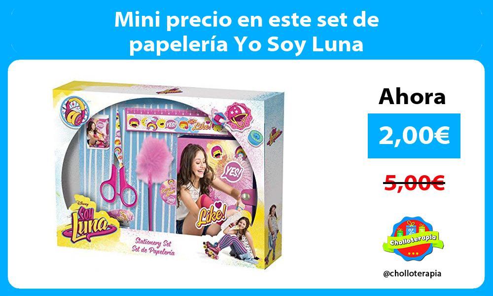 Mini precio en este set de papelería Yo Soy Luna