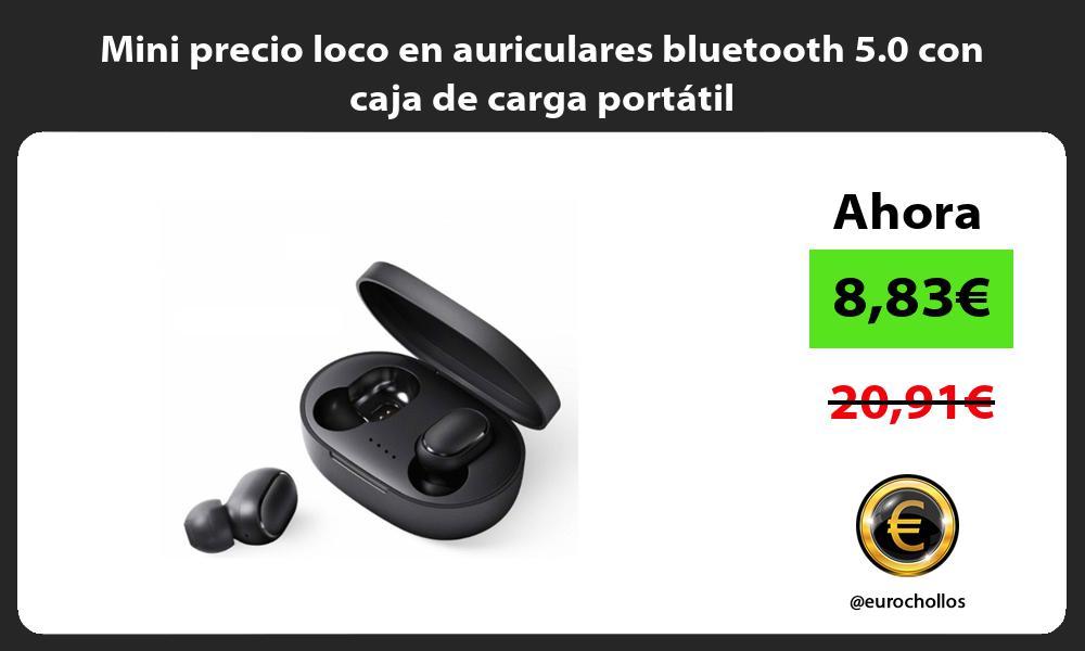 Mini precio loco en auriculares bluetooth 5 0 con caja de carga portátil