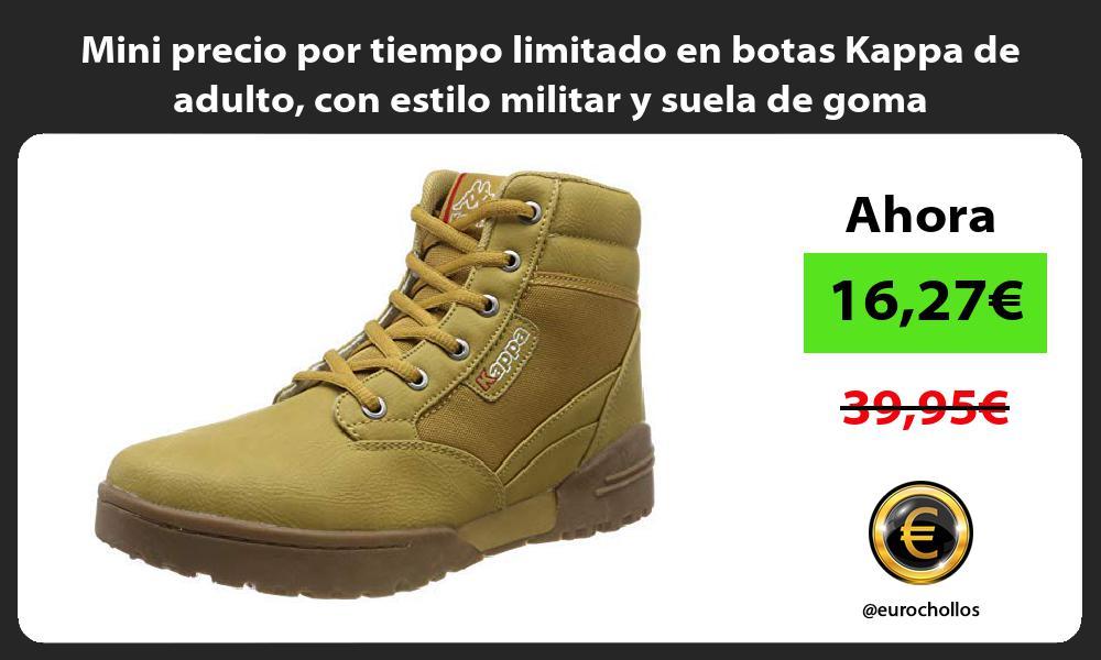 Mini precio por tiempo limitado en botas Kappa de adulto con estilo militar y suela de goma