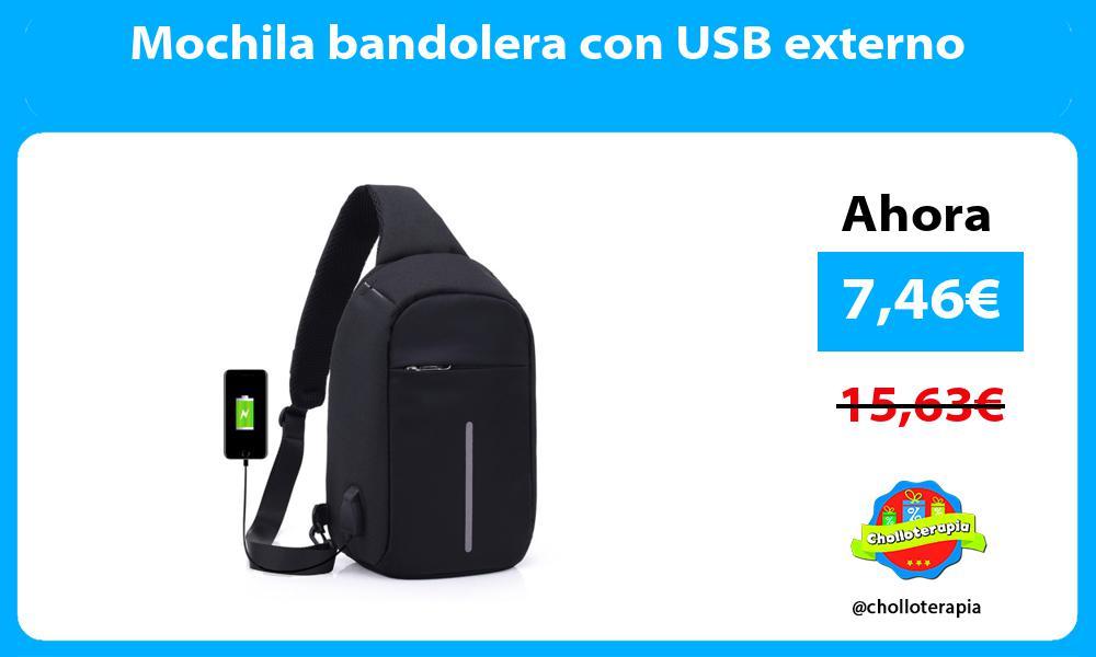 Mochila bandolera con USB externo