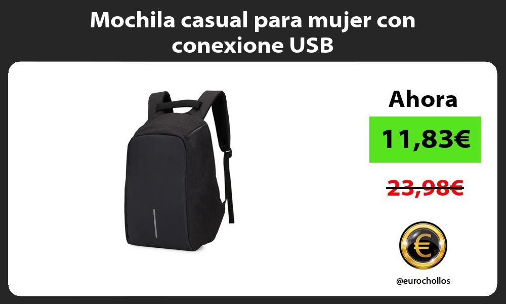 Mochila casual para mujer con conexione USB