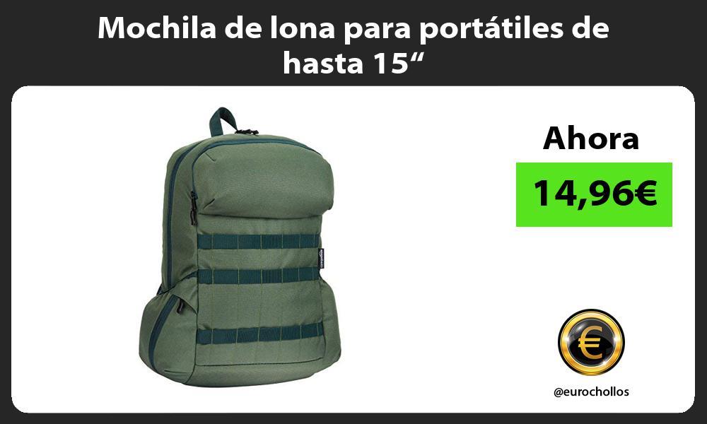 """Mochila de lona para portátiles de hasta 15"""""""