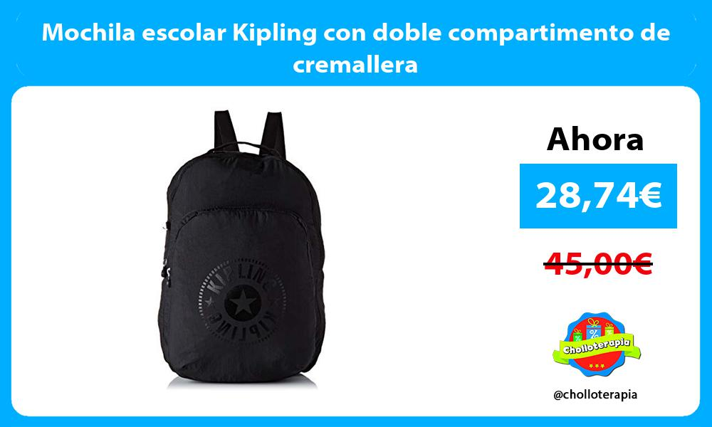Mochila escolar Kipling con doble compartimento de cremallera