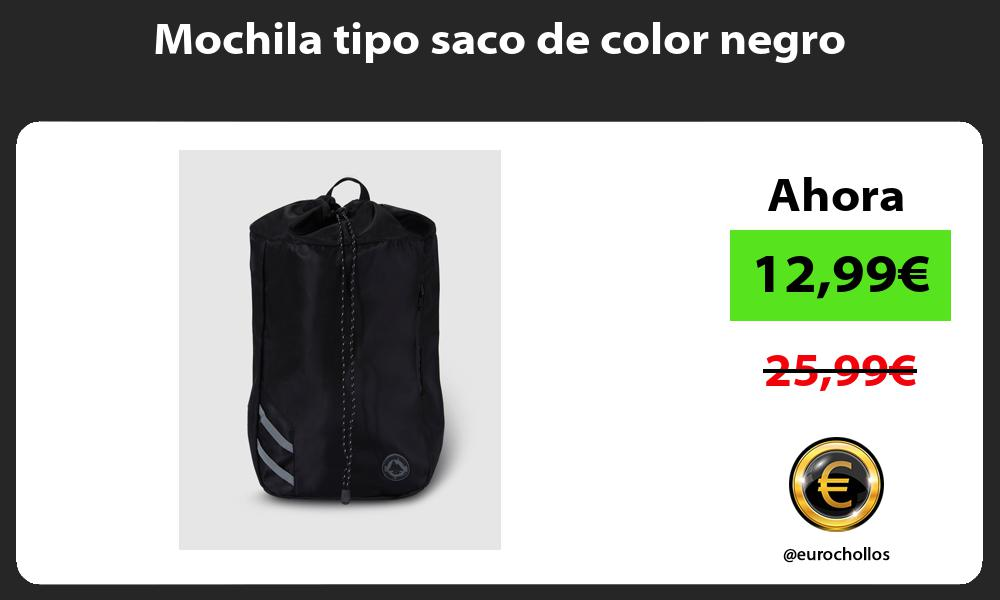 Mochila tipo saco de color negro