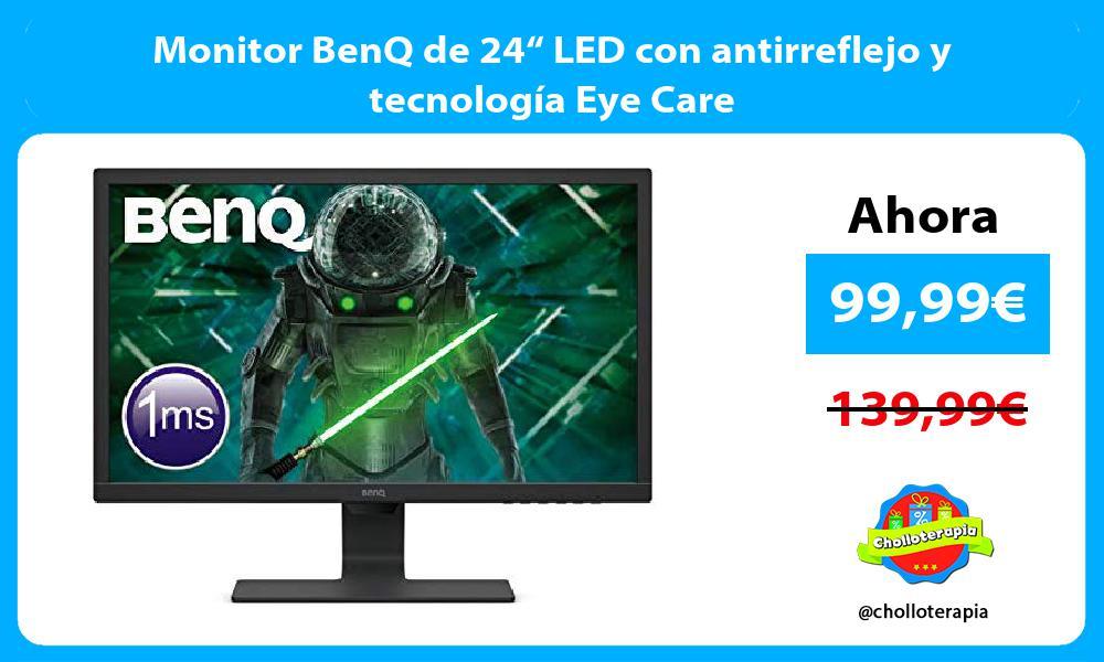 """Monitor BenQ de 24"""" LED con antirreflejo y tecnología Eye Care"""
