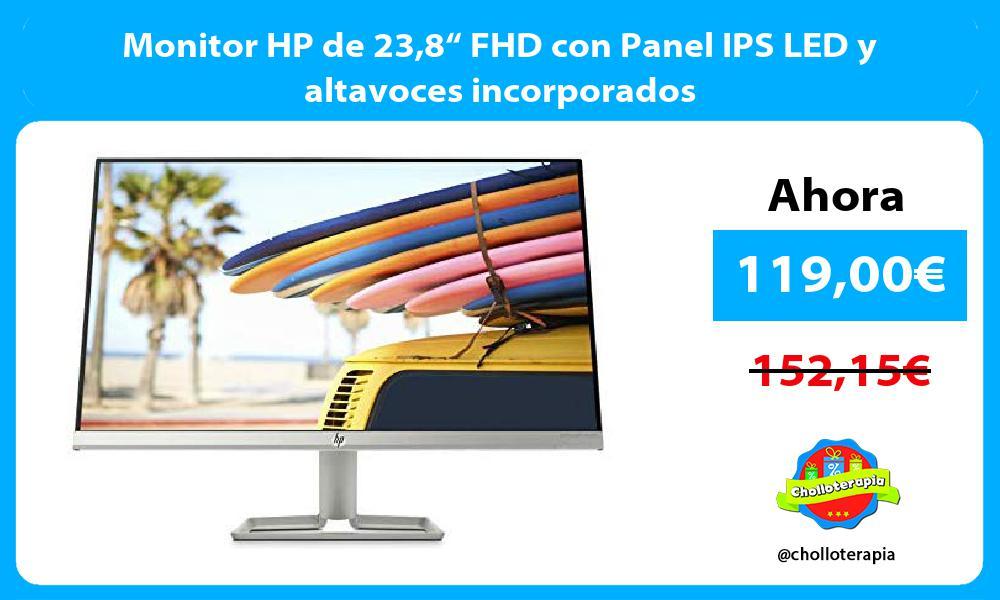 """Monitor HP de 238"""" FHD con Panel IPS LED y altavoces incorporados"""