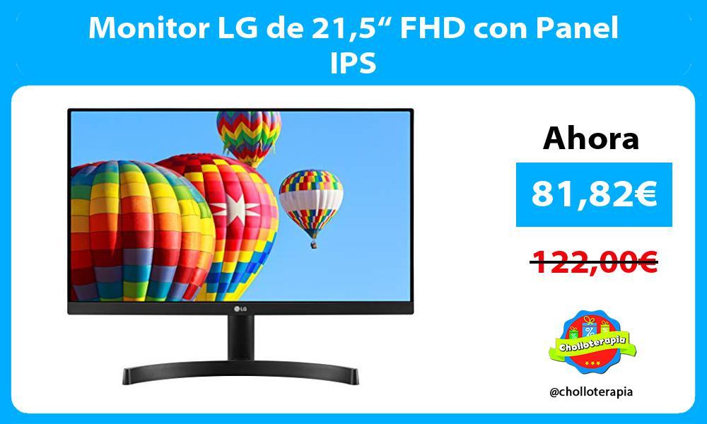 "Monitor LG de 215"" FHD con Panel IPS"