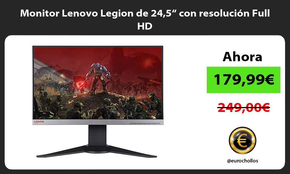 """Monitor Lenovo Legion de 245"""" con resolución Full HD"""