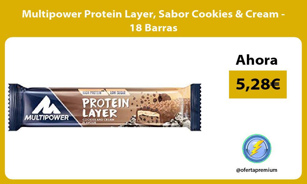 Multipower Protein Layer Sabor Cookies Cream 18 Barras