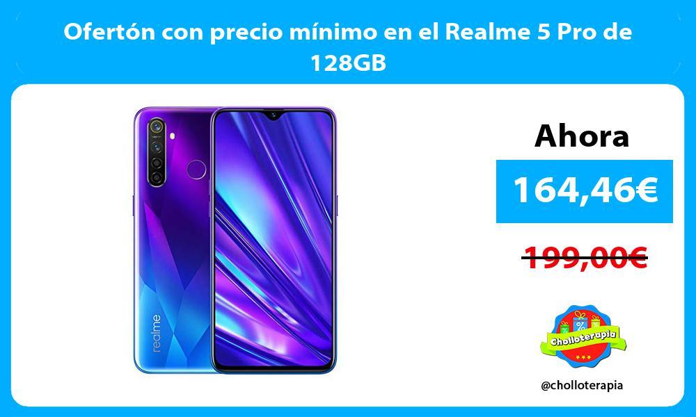 Ofertón con precio mínimo en el Realme 5 Pro de 128GB