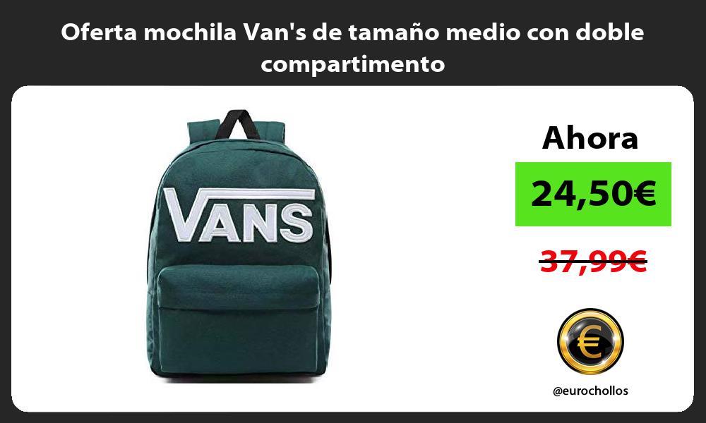 Oferta mochila Vans de tamaño medio con doble compartimento
