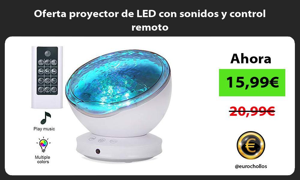 Oferta proyector de LED con sonidos y control remoto
