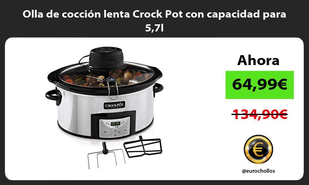 Olla de cocción lenta Crock Pot con capacidad para 57l