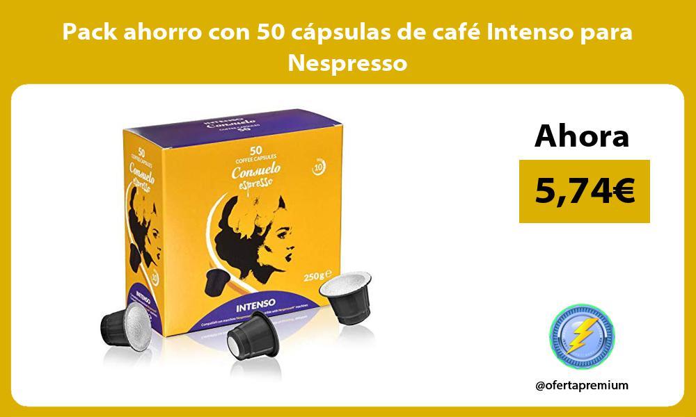 Pack ahorro con 50 cápsulas de café Intenso para Nespresso