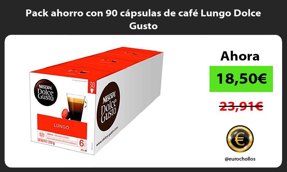 Pack ahorro con 90 cápsulas de café Lungo Dolce Gusto