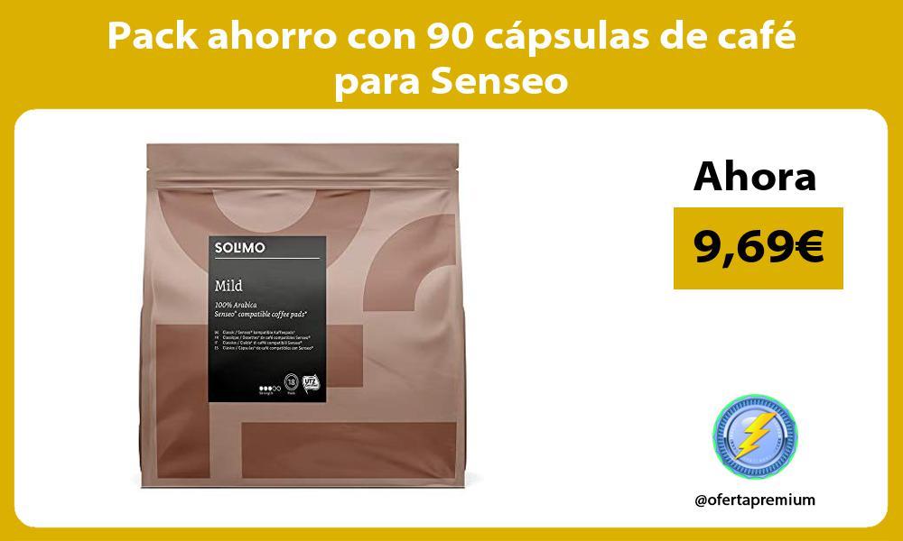 Pack ahorro con 90 cápsulas de café para Senseo