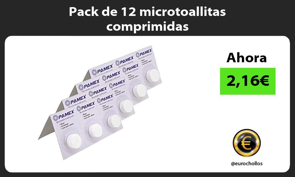 Pack de 12 microtoallitas comprimidas