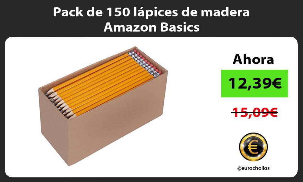 Pack de 150 lápices de madera Amazon Basics