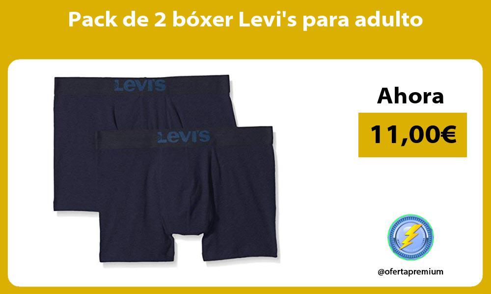 Pack de 2 bóxer Levis para adulto