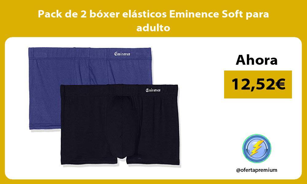 Pack de 2 bóxer elásticos Eminence Soft para adulto