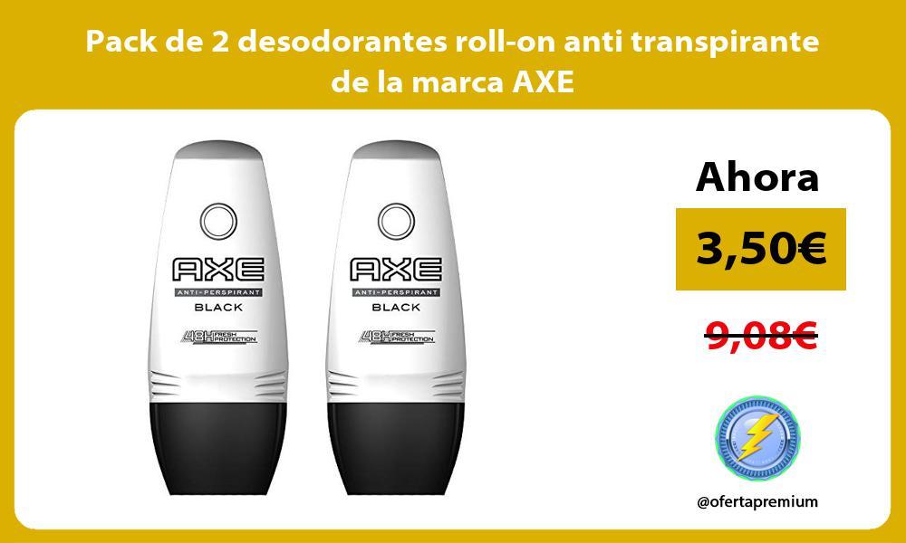 Pack de 2 desodorantes roll on anti transpirante de la marca AXE