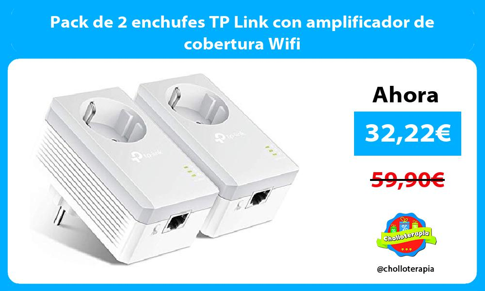 Pack de 2 enchufes TP Link con amplificador de cobertura Wifi