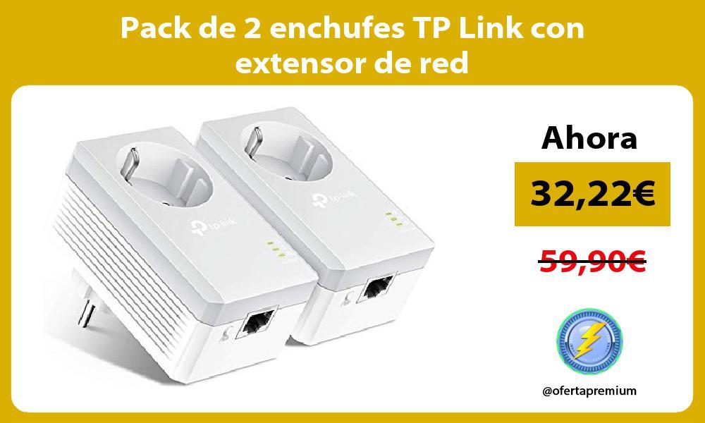 Pack de 2 enchufes TP Link con extensor de red
