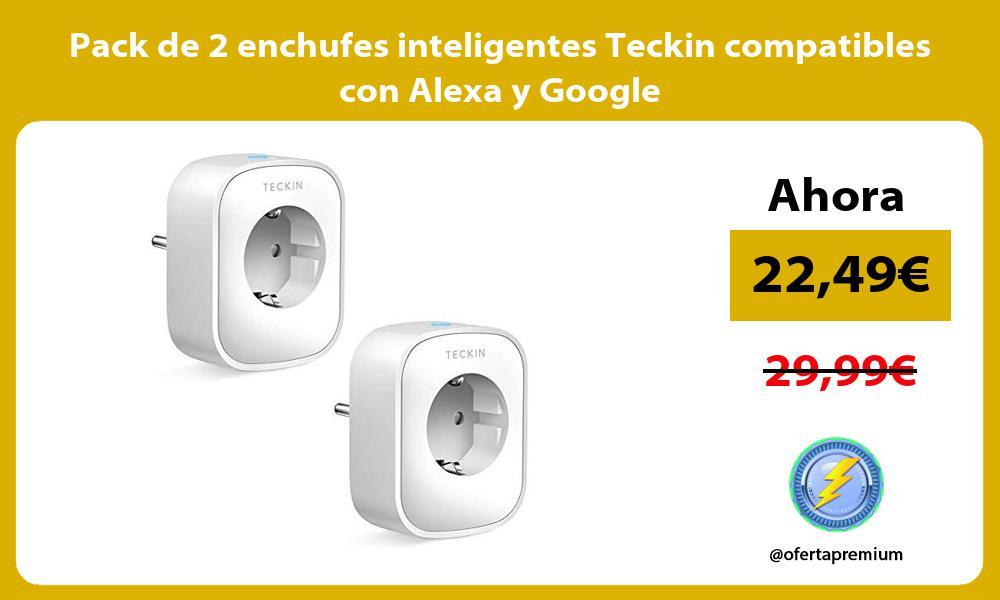 Pack de 2 enchufes inteligentes Teckin compatibles con Alexa y Google