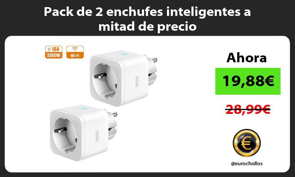 Pack de 2 enchufes inteligentes a mitad de precio