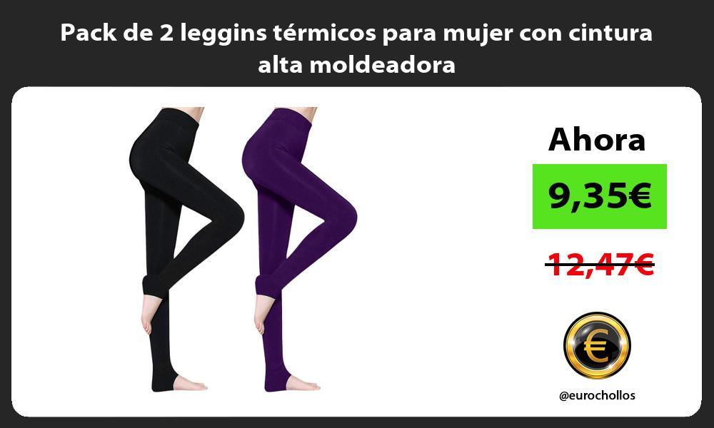 Pack de 2 leggins térmicos para mujer con cintura alta moldeadora