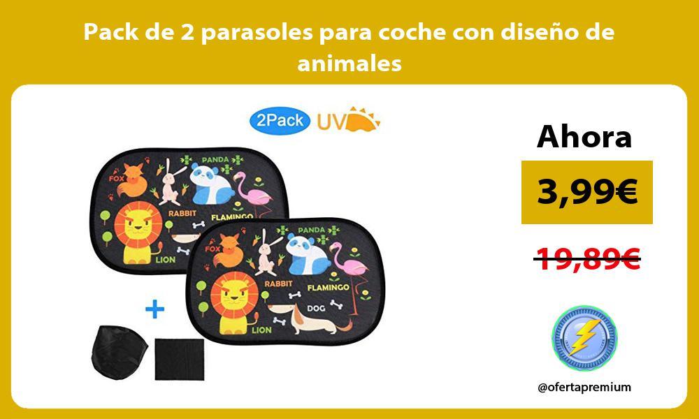 Pack de 2 parasoles para coche con diseño de animales