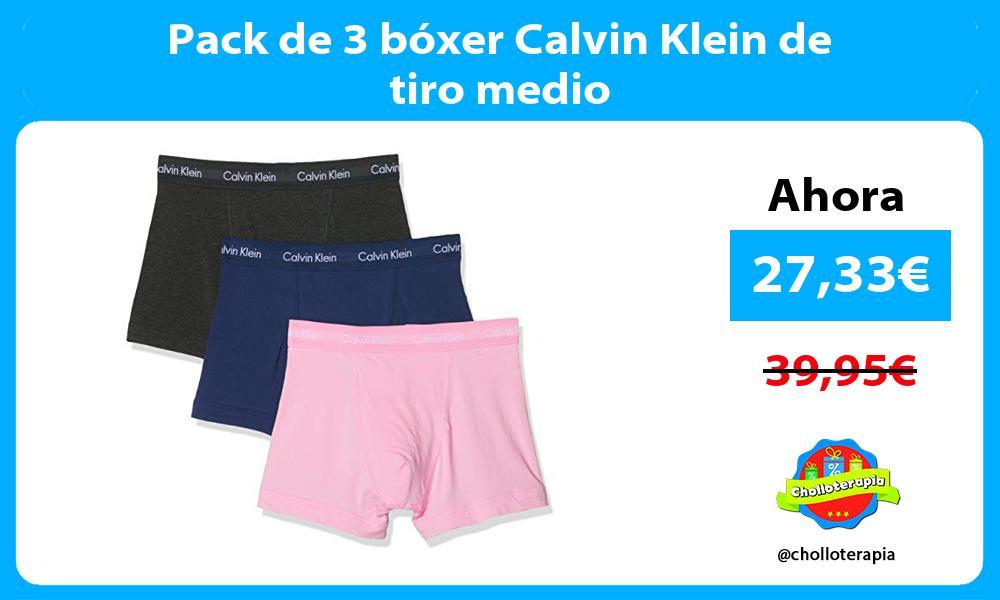 Pack de 3 bóxer Calvin Klein de tiro medio