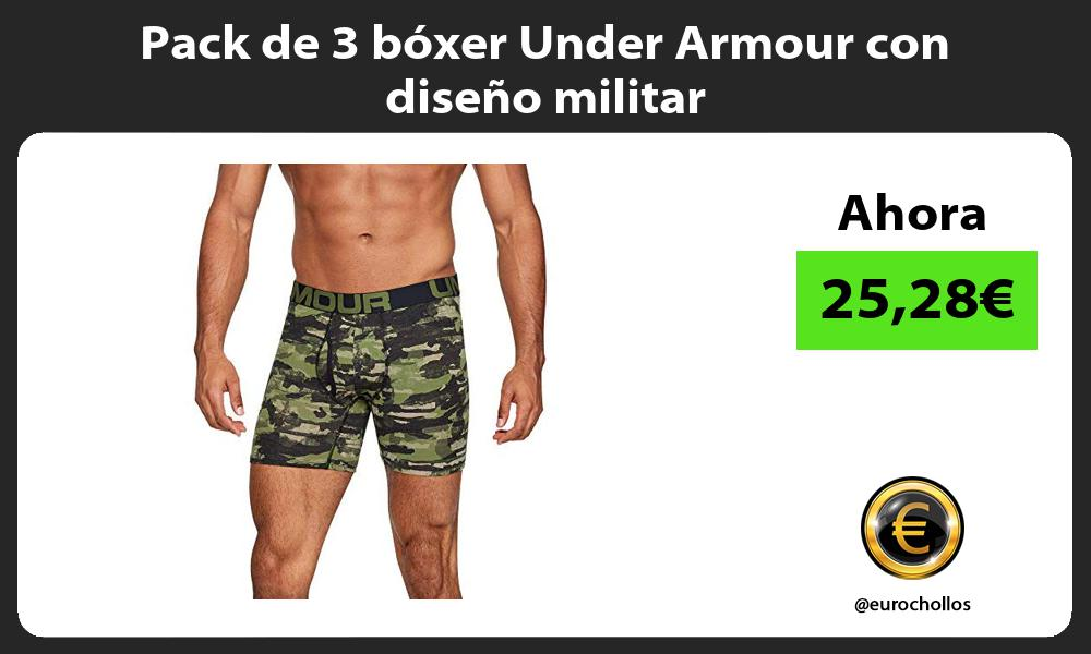 Pack de 3 bóxer Under Armour con diseño militar