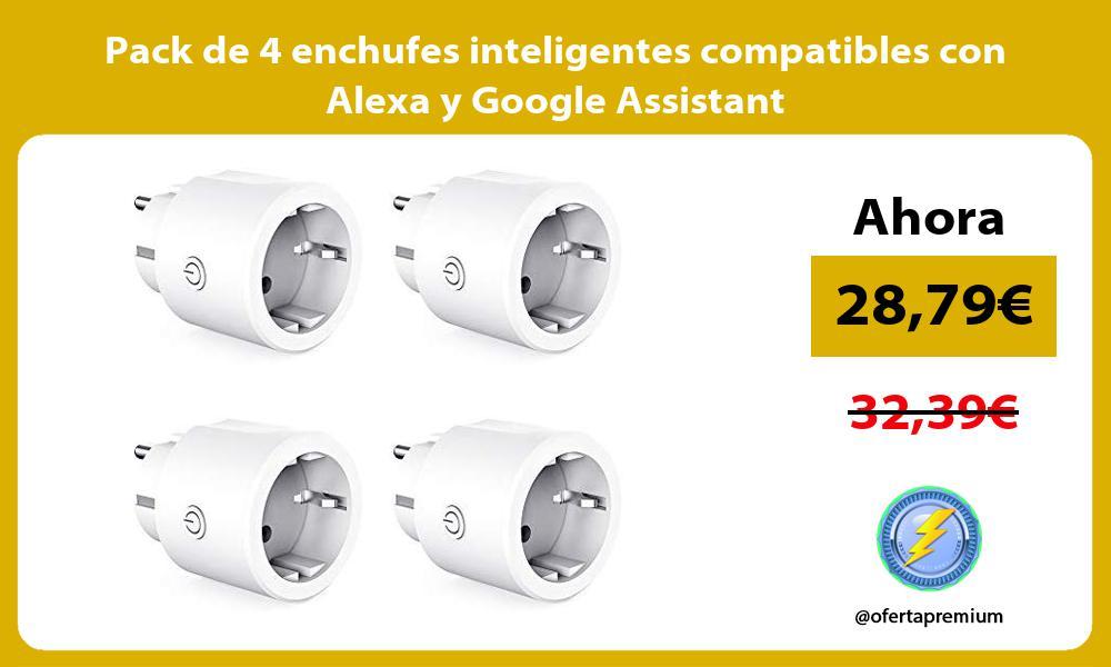 Pack de 4 enchufes inteligentes compatibles con Alexa y Google Assistant