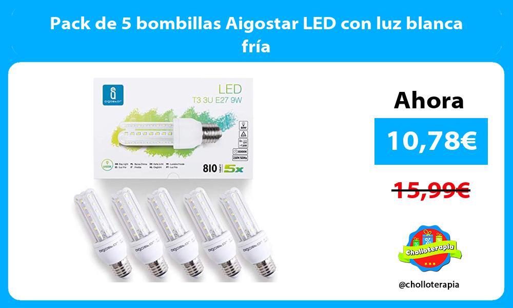 Pack de 5 bombillas Aigostar LED con luz blanca fría
